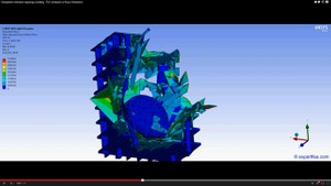 ANSYS Workbench MECHDAT file and 3D model for meteorite