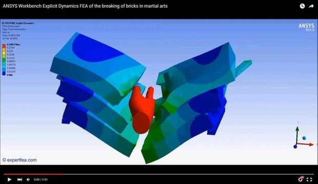 MECHDAT file and 3D model for bricks breaking