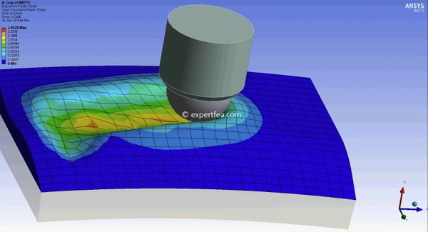 ANSYS WB 17.1 Mechdat file and 3D model for vibroburnishing