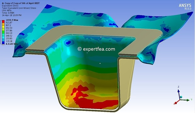 ANSYS WB 15 MECHDAT file and 3D model for AL deep drawing