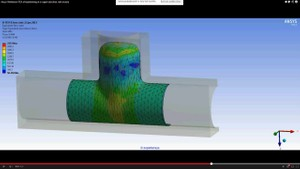 ANSYS Workbench MECHDAT file and 3D model for hydroforming