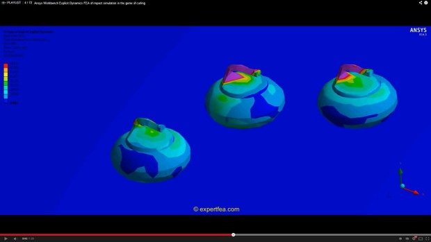 ANSYS Workbench MECHDAT file and 3D model for curling