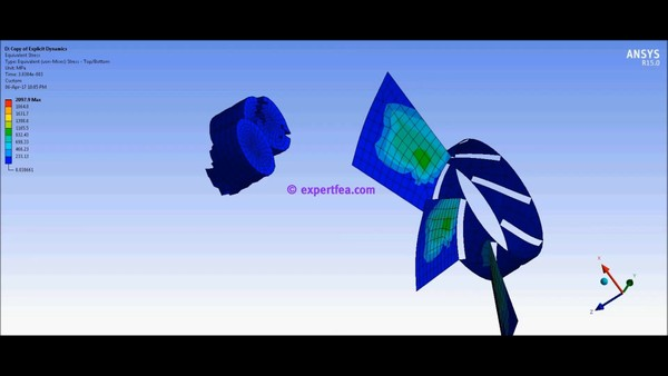 ANSYS MECHDAT file and 3D model for fan and bird