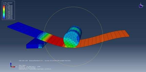 Abaqus 13.1 files and 3D model for lamella with pin