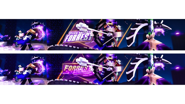 ♥ [PSD File] Forrest's Minecraft Banner Project