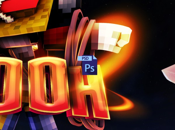 { PSD File } POOH Minecraft Banner Process