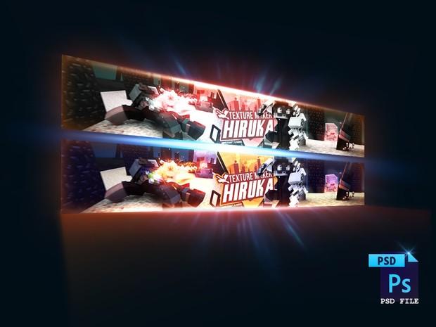 ♥  [PSD File] Hiruka's Minecraft Banner Project