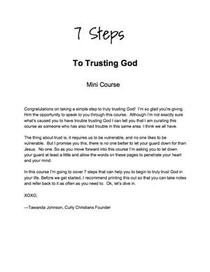 7 Steps To Trusting God