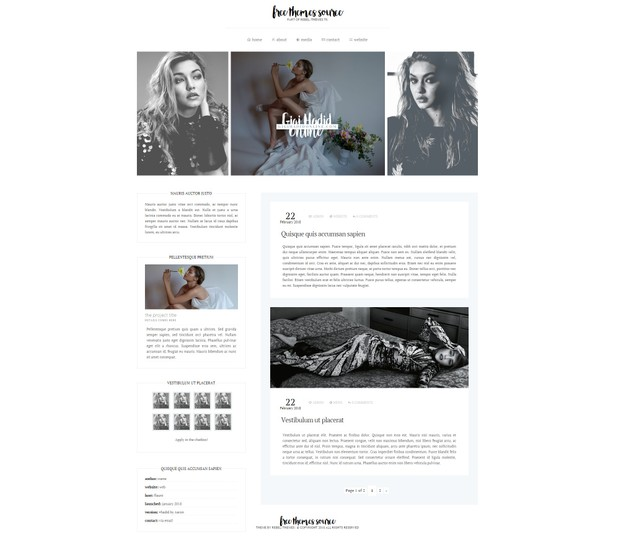 Wordpress theme - Free