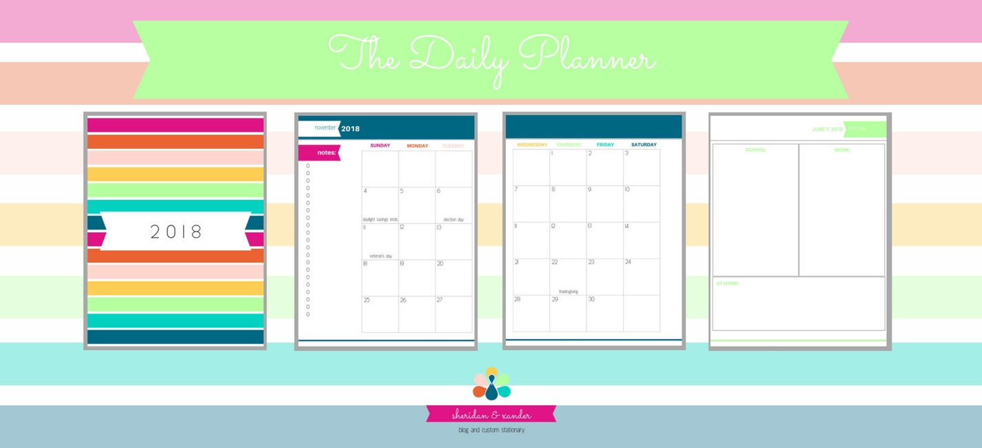 It is a picture of The Daily Planner in free printable