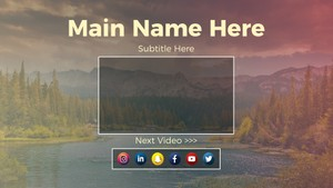 YouTube Channel Outro Template