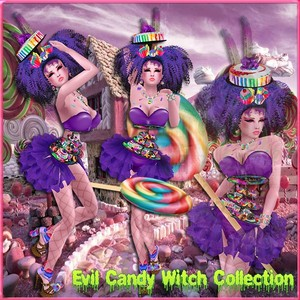 Evil Candy Witch Collection Limited Only to 3 ppl 2/3 W/Resell Rights