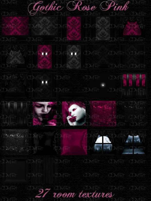 Gothic Rose Pink Room Texture