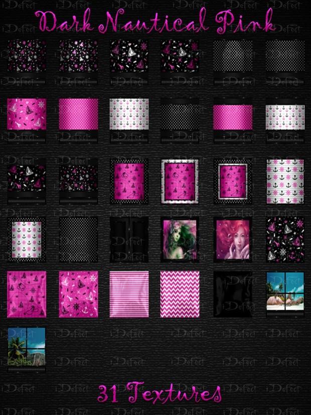 Dark Nautical Pink Room Texture