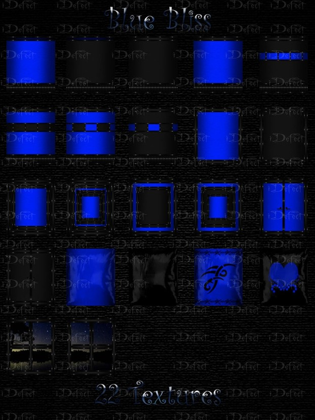 Blue Bliss Room Texture