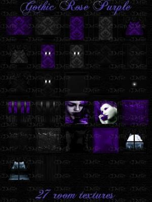 Gothic Rose Purple Room Texture