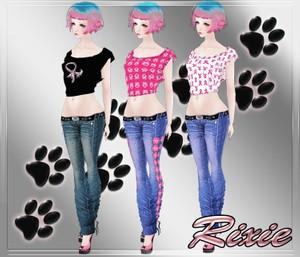 Breast Cancer Jeans & Top V2 Set