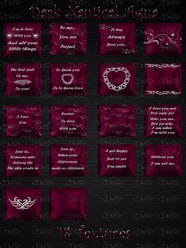 Dark Pink Beloved Pillows