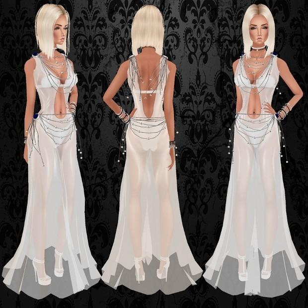 R2D2 White Dress