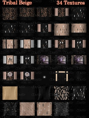 Tribal Beige Room Texture