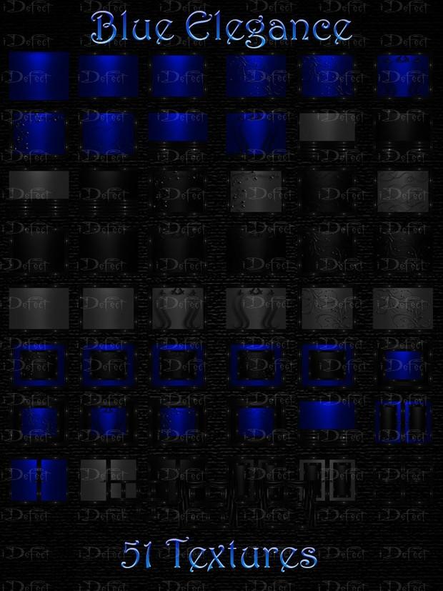 Blue Elegance Room Texture