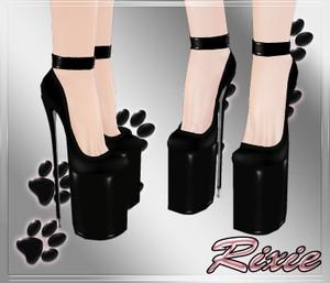 Black Pvc Shoes