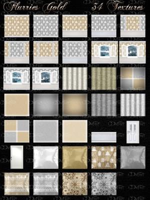 Flurries Gold Room Texture