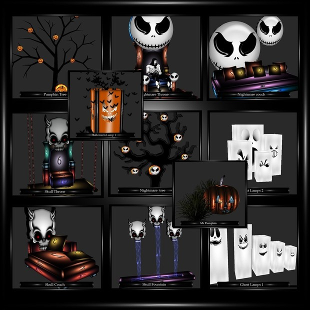 60 Halloween Mesh Pack!