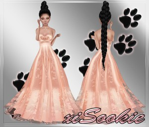 Peach Pearl Gown