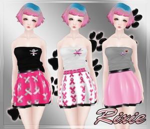 Breast Cancer Awareness Top & Skirt Set