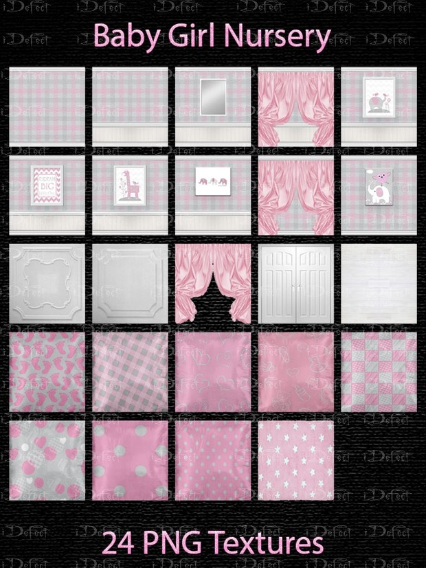 Baby girl Nursery Room Texture