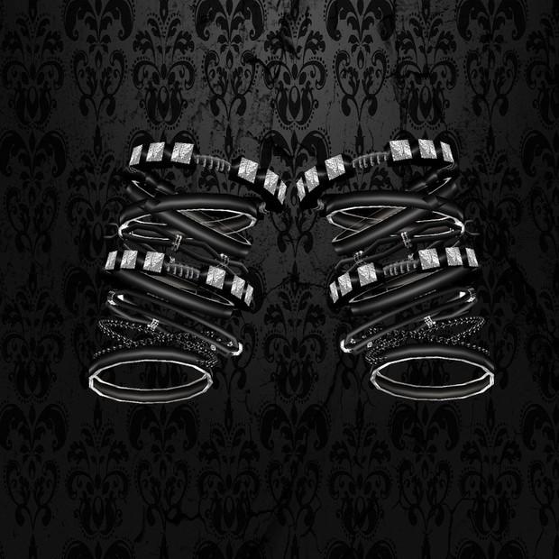 Black/Silver Bracelet Male