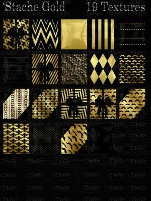 Stache Gold Pillows