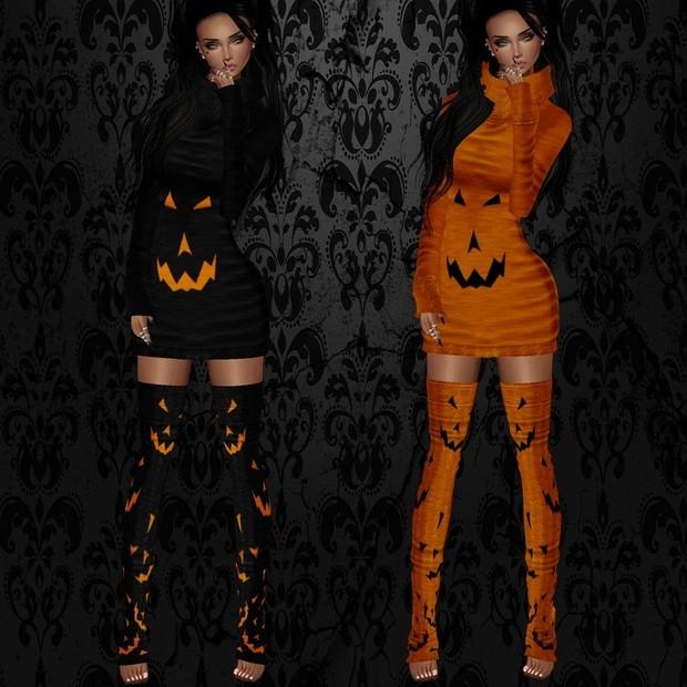 Sweet Halloween Dress Set