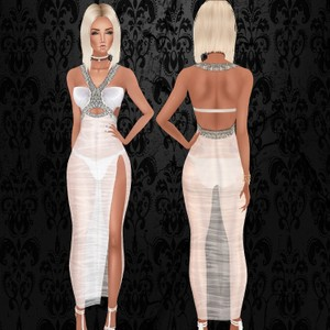 White Wet Cindy Gown - Exclusive Files - W/Resell Rights / PNG.
