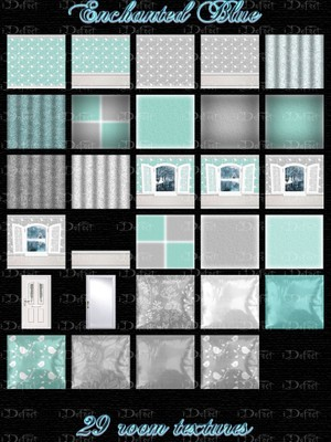 Enchanted Blue Room Texture