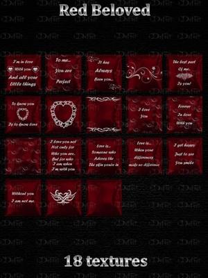 Red Beloved Pillows