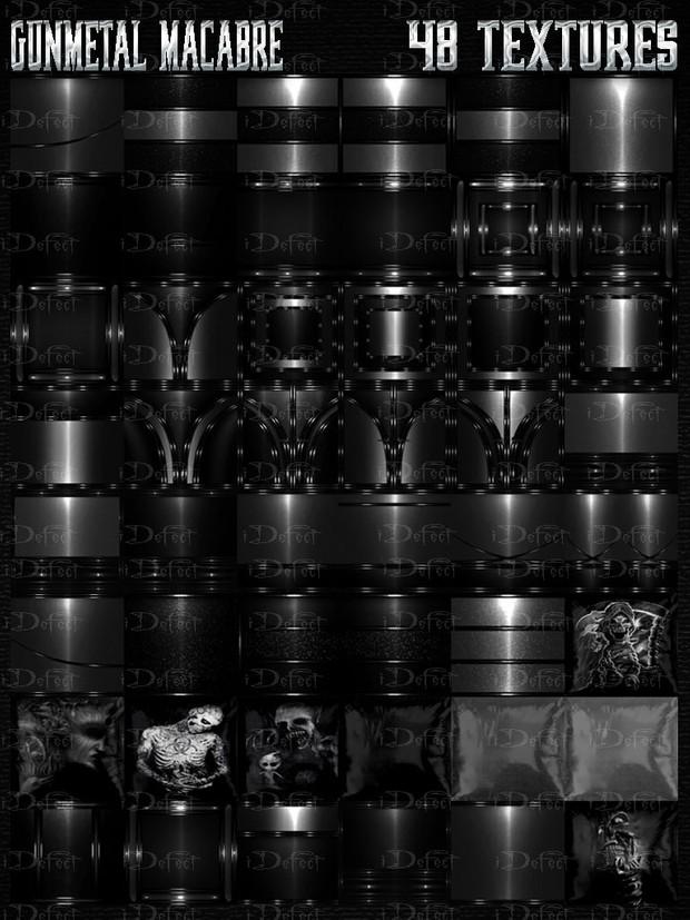 Gun Metal Macabre Room Texture