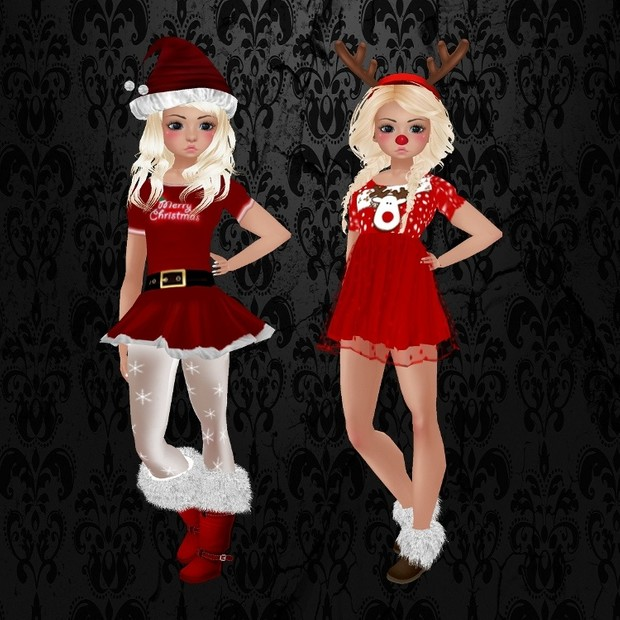 2 Cute Kids Christmas Outfits
