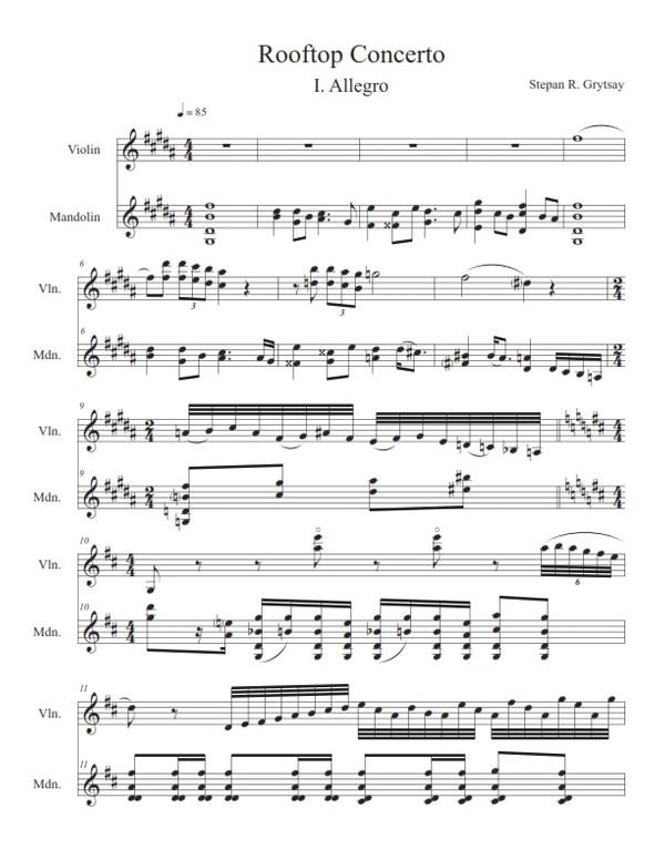 Rooftop Concerto - Allegro (PDF)