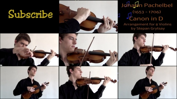 "Pachelbel ""Canon in D"" Arrangement for 8 Violins by Stepan Grytsay"