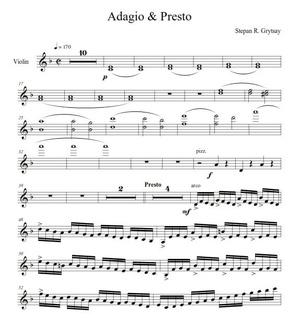 Electro & Presto by Stepan Grytsay. Violin Part - PDF