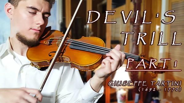"""Tartini Violin Sonata in G minor """"Devil's Trill Sonata'' Part 1"""