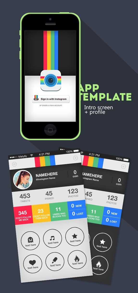 Instagram Followers UI Design