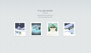 Cute Winter Christmas Stamps