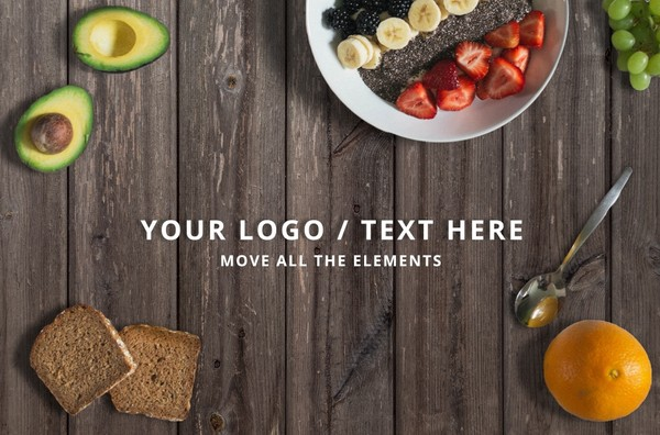Food mockup - move elements