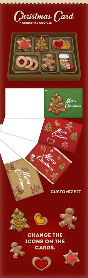 Christmas cookies style + xmas gift cards