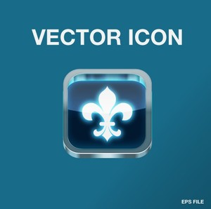 Vector steel app icon