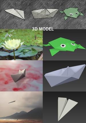 Origami 3d model