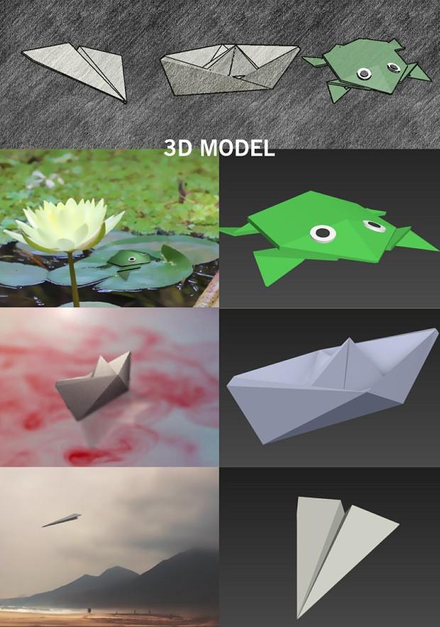 Origami 3d Model Tildesing